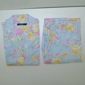 Ralph Lauren Blue Floral Pajama Set